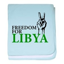 Freedom for Libya baby blanket