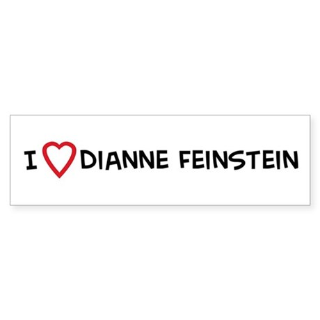 I Love Dianne Feinstein Bumper Sticker