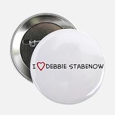 I Love Debbie Stabenow Button