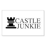 Castle Junkie Sticker (Rectangle 50 pk)