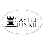 Castle Junkie Sticker (Oval 10 pk)