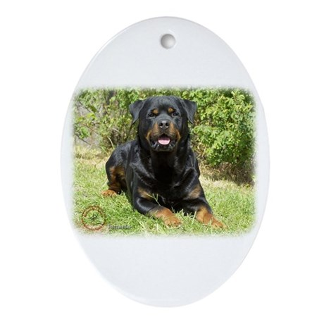 Rottweiler 9R047D-049 Ornament (Oval)