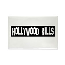 """Hollywood Kills"" Rectangle Magnet"