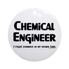 Chem Engineer Zombie Fighter Ornament (Round)