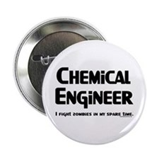 """Chem Engineer Zombie Fighter 2.25"""" Button"""