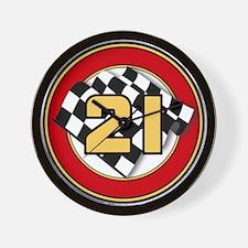 CAR 21 WINNER'S CIRCLE Wall Clock