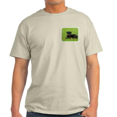Rottweiler puppy 9W025D-053 Light T-Shirt