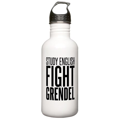 Study and Fight (English) Stainless Water Bottle 1