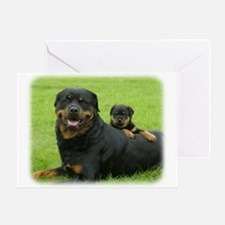 Rottweiler 9W025D-081 Greeting Card