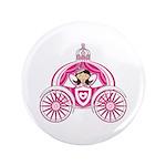 "Princess in Carriage 3.5"" Button (100 Pk)"