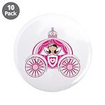"Princess in Carriage 3.5"" Button (10 Pk)"