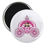 Fairytale Princess in Carriage Magnet