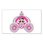 Fairytale Princess in Carriage Sticker (10 Pk)