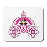 Cute Fairytale Princess in Carriage Mousepad