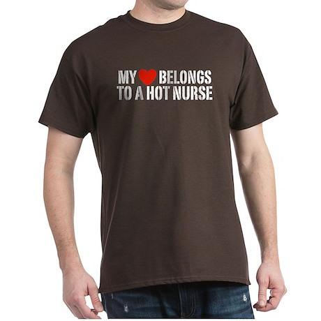 My Heart Belongs to a Hot Nurse Dark T-Shirt