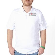My Heart Belongs to a Hot Nurse T-Shirt