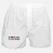 My Heart Belongs to a Hot Nurse Boxer Shorts