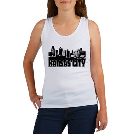 Kansas City Skyline Women's Tank Top