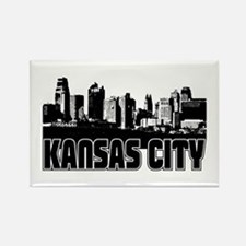 Kansas City Skyline Rectangle Magnet