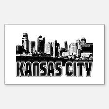 Kansas City Skyline Bumper Stickers