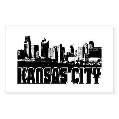 Kansas City Skyline Sticker (Rectangle)