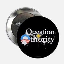 """Question Othority 2.25"""" Button (10 pack)"""