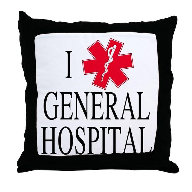 Throw Pillows Dollar General : I Love General Hospital Throw Pillow by ILoveGeneralHospital