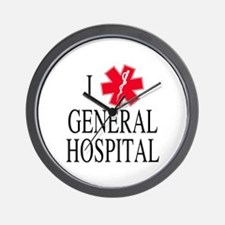 I Love General Hospital Wall Clock