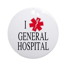 I Love General Hospital Ornament (Round)