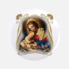 """Mary was Pro-Life 3.5"""" Button"""
