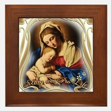 Mary was Pro-Life Framed Tile