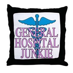 General Hospital Junkie Throw Pillow