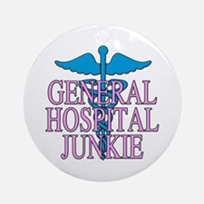 General Hospital Junkie Ornament (Round)