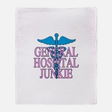 General Hospital Junkie Throw Blanket