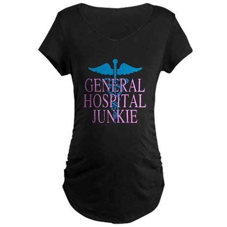 General Hospital Junkie Maternity Dark T-Shirt