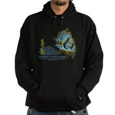 Respect -Chinese Dragon Blue Hoodie