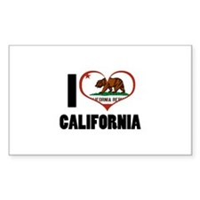 I Heart California Decal