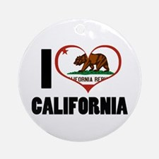 I Heart California Ornament (Round)