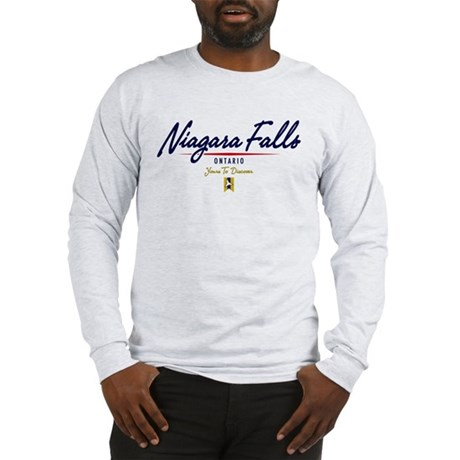 Niagara Falls Script Long Sleeve T-Shirt