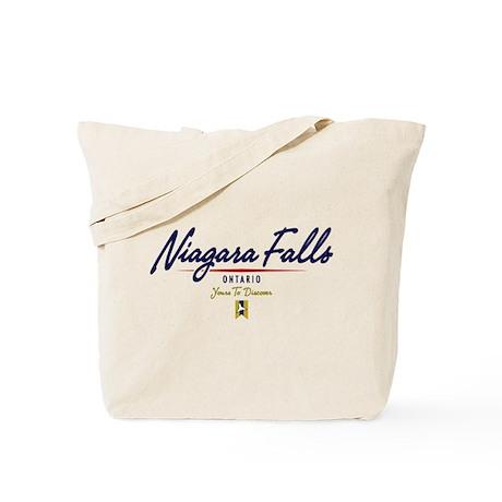 Niagara Falls Script Tote Bag