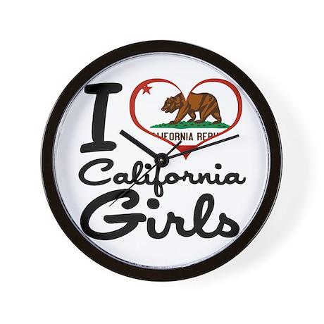 I Heart California Girls Wall Clock