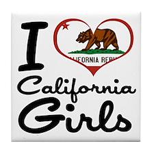 I Heart California Girls Tile Coaster