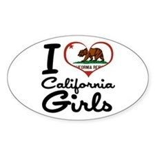 I Heart California Girls Decal