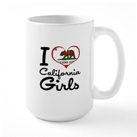 I Heart California Girls Large Mug