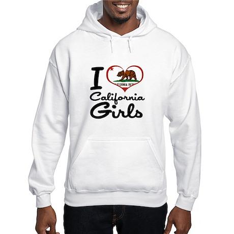 I Heart California Girls Hooded Sweatshirt