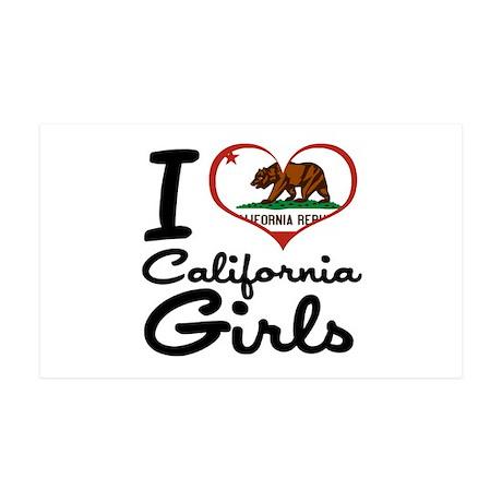 I Heart California Girls 38.5 x 24.5 Wall Peel