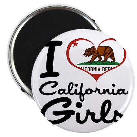 """I Heart California Girls 2.25"""" Magnet (100 pack)"""