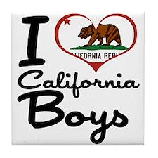 I Heart California Boys Tile Coaster