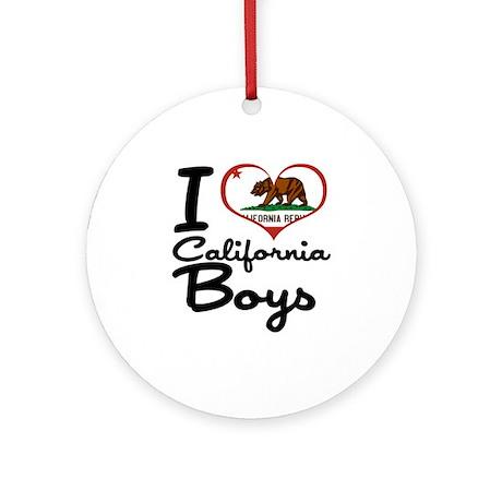 I Heart California Boys Ornament (Round)