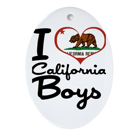 I Heart California Boys Ornament (Oval)